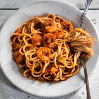 This spice-spiked pasta is one of Melissa Martin's go-tos for feeding a crowd; she says it's a reliable hit every time she serves it.Discover True Cajun Cuisine with Melissa Martin's Shrimp Spaghetti