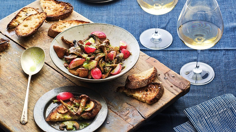 Mushroom Toast with Aged White Rioja