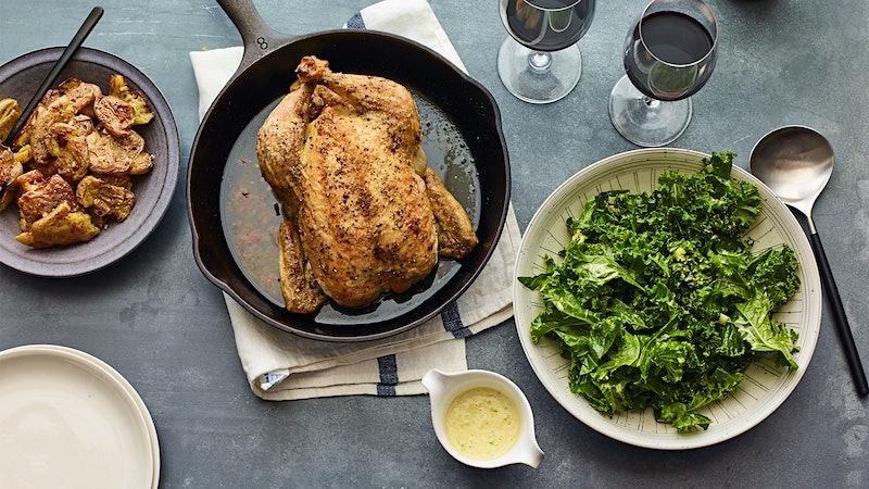 Roast Chicken with Beaujolais