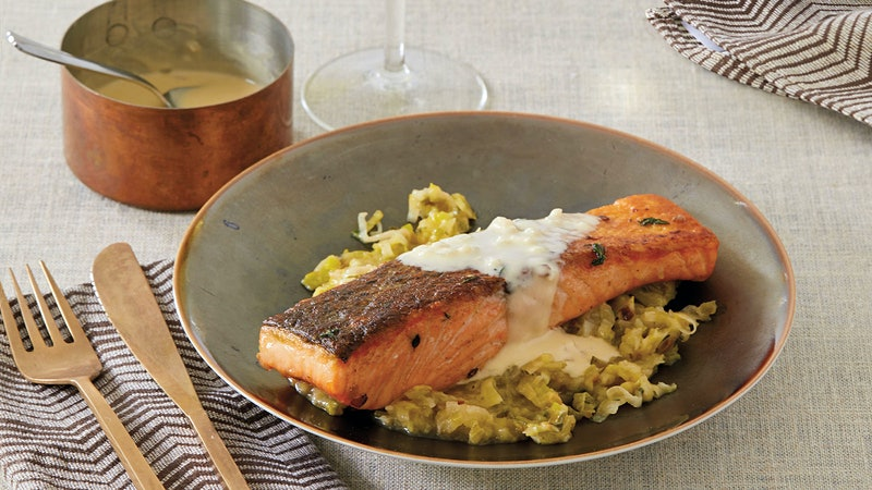 Crispy Salmon with White Burgundy