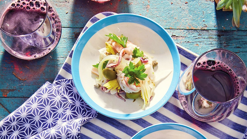 Seafood Salad With Olives, Lemon & Capers