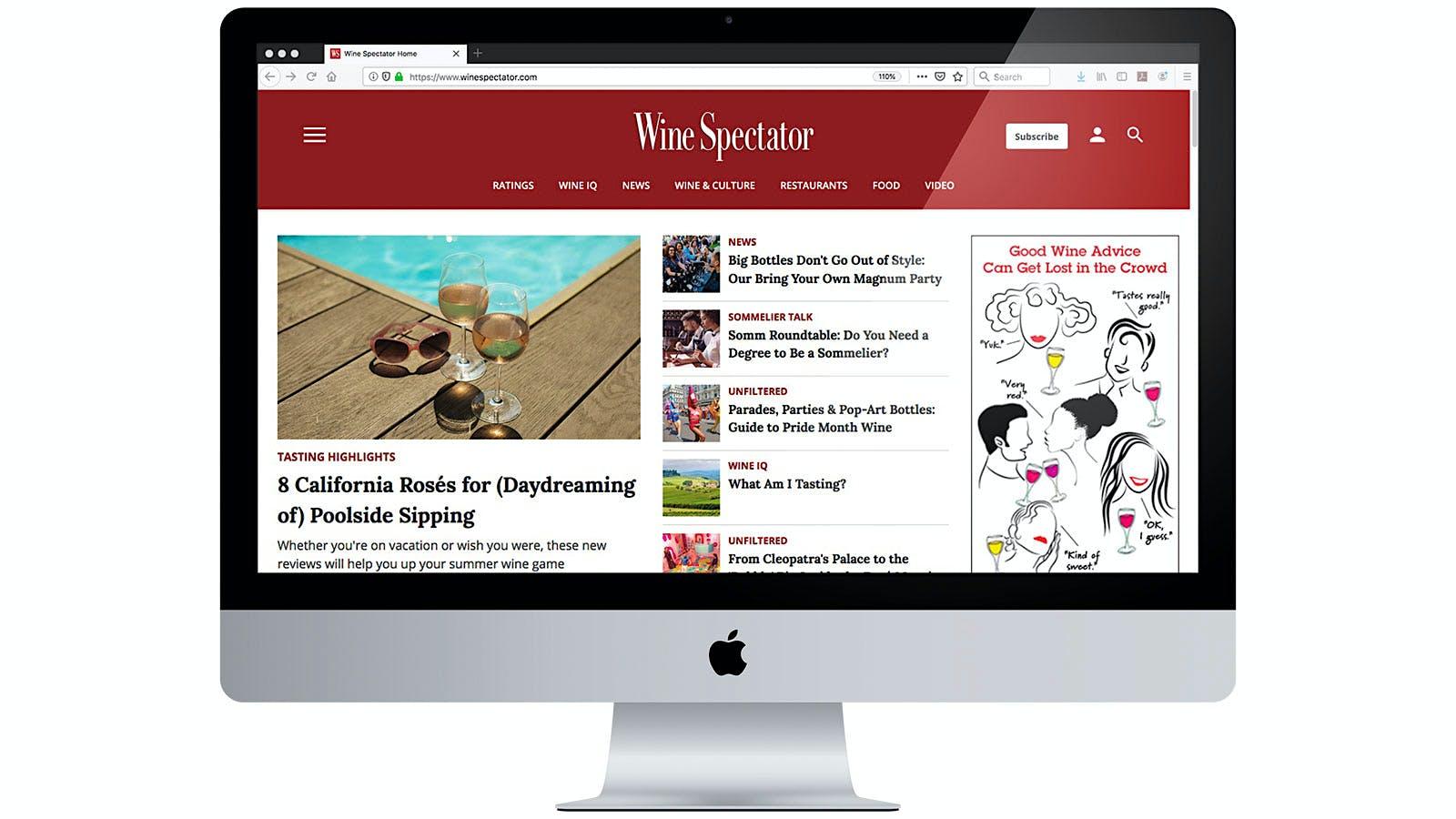 Wine Spectator Revamps Website