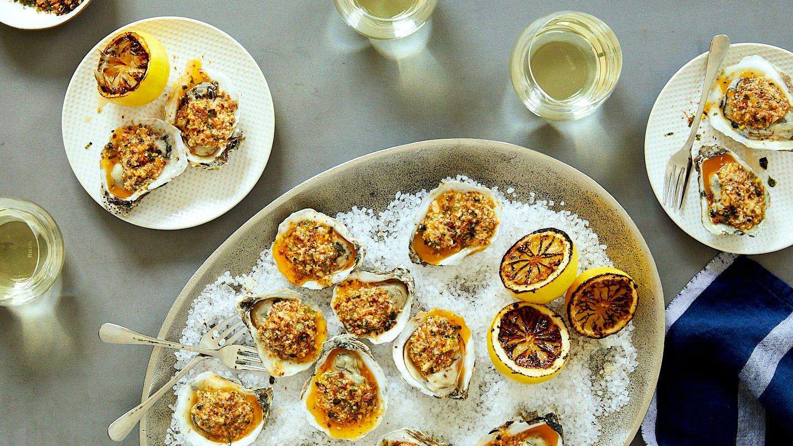Oysters with Grüner Veltliner