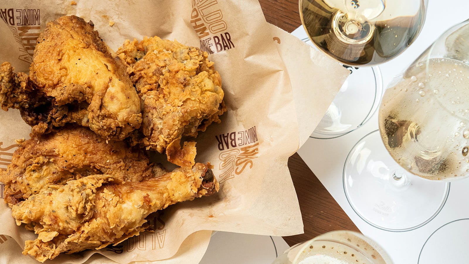 Aldo Sohm's First Tasting: Sparkling Wine and Fried Chicken