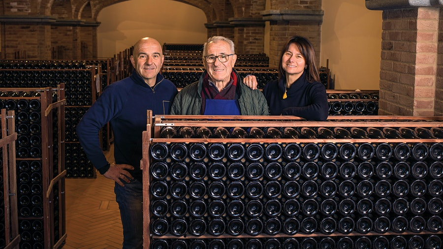 The family operation, built over time from a meager 1,500 bottles to an annual production of 8,000-plus cases, relies on Luciano as winemaker, his brother Luca (left) to manage viticulture, and Luciano's daughter, Barbara, to oversee exports.
