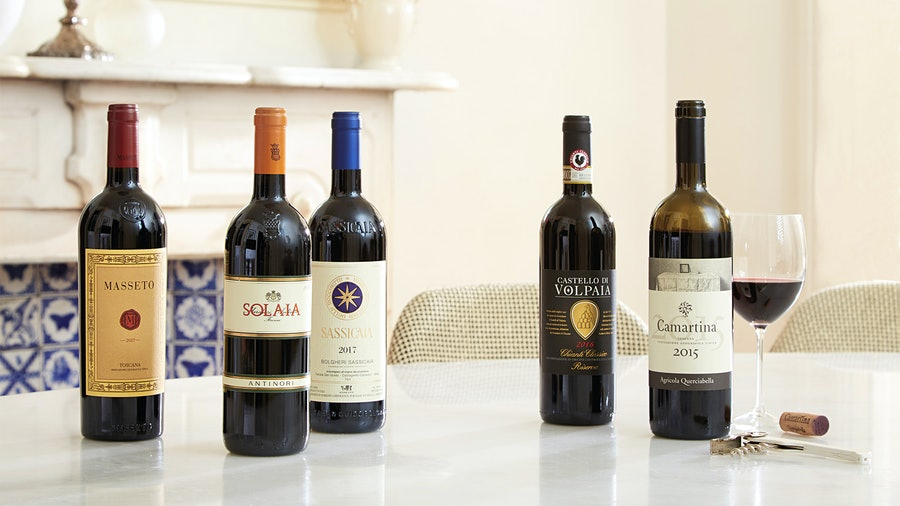 Some of the top-scoring Tuscan wines of recent vintages