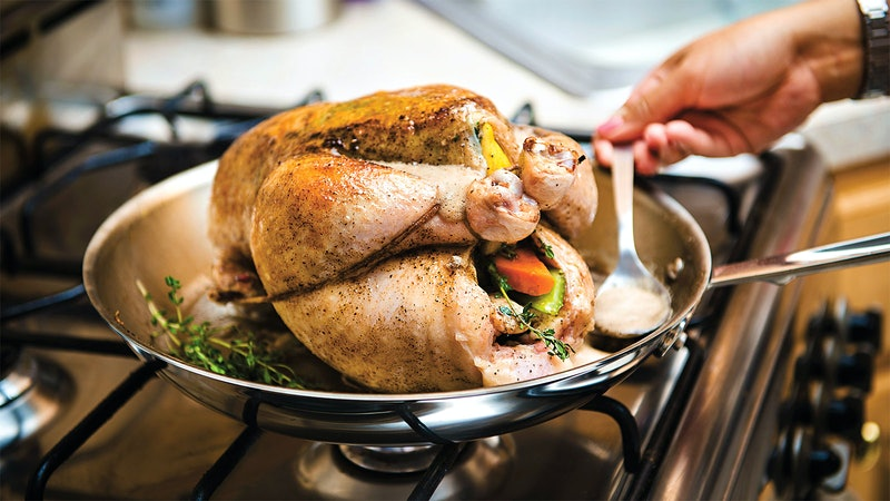 Roasted Chicken with Carrots, Parsnips and Brussels Sprouts