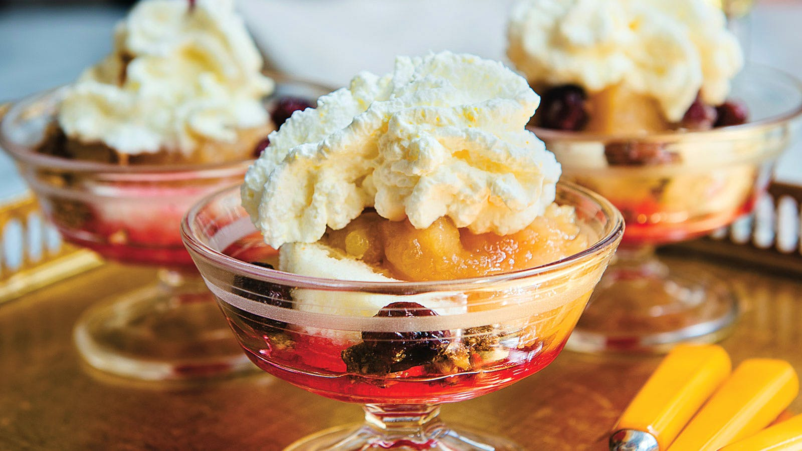 Fall Fruit Parfaits with Hazelnut Crumble and Frangelico Cream