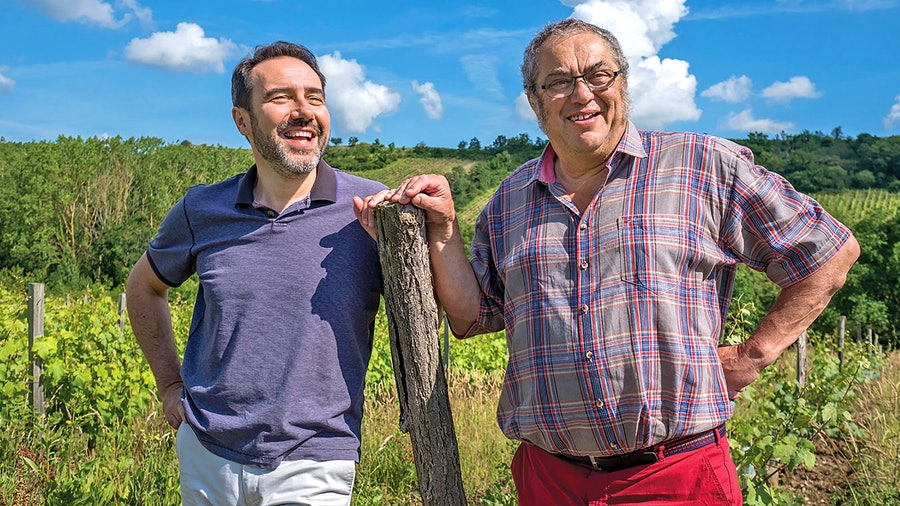 To create Domaine Belargus, businessman Ivan Massonnat (left) bought the Anjou estate of vintner Jo Pithon and enlisted him as a consultant. Launched in 2018, Belargus is already finding success, with six outstanding Chenins this year.