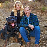 Candace Cameron Bure and Val Bure with their Rottweiler, BorisDogs: Wineries' Best Friends