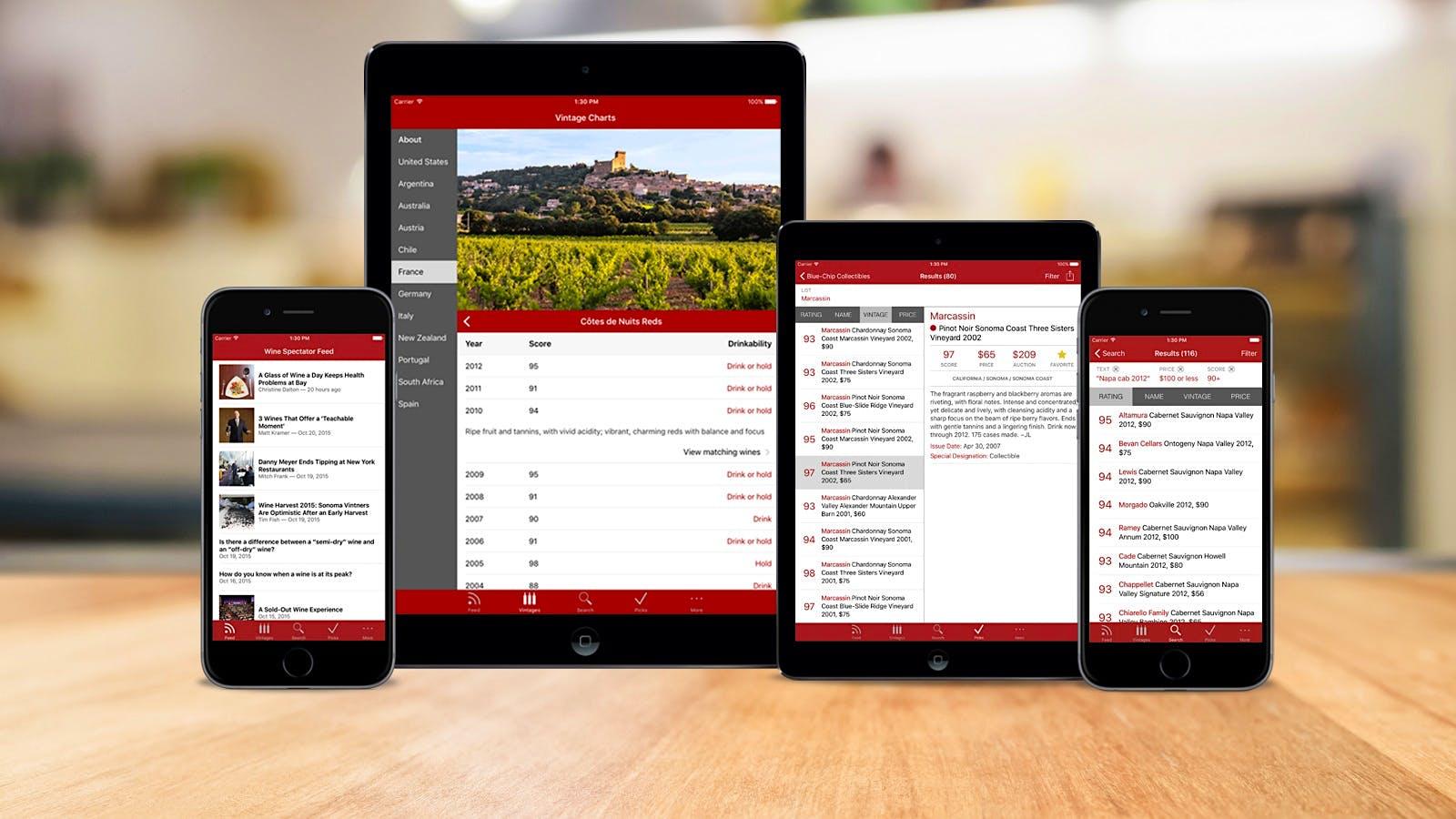 Wine Spectator Releases Revamped WineRatings+ App
